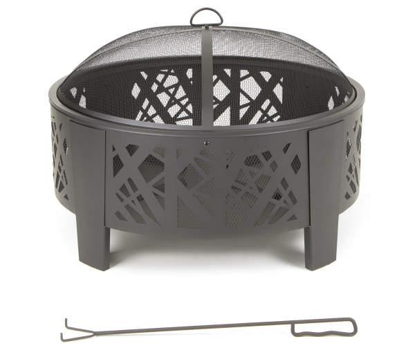 """This minimalist fire pit is perched on a simple geometric frame. It's the perfect addition to your deck or patio and comes in at less than $100. $113, Wayfair. <a href=""""https://www.wayfair.com/outdoor/pdp/ebern-designs-lemeiux-steel-wood-burning-fire-pit-w002079042.html"""" rel=""""nofollow noopener"""" target=""""_blank"""" data-ylk=""""slk:Get it now!"""" class=""""link rapid-noclick-resp"""">Get it now!</a>"""
