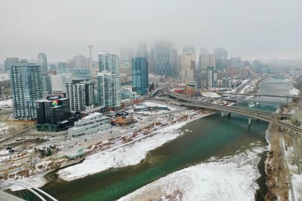 Calgary's downtown has been hit hard since oil prices collapsed in 2014, causing problems for business property taxes outside of the core.  (David Bajer/CBC - image credit)