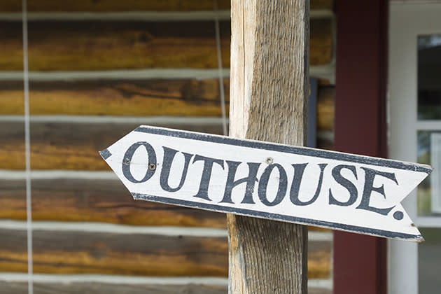 Outhouse sign (Thinkstock)