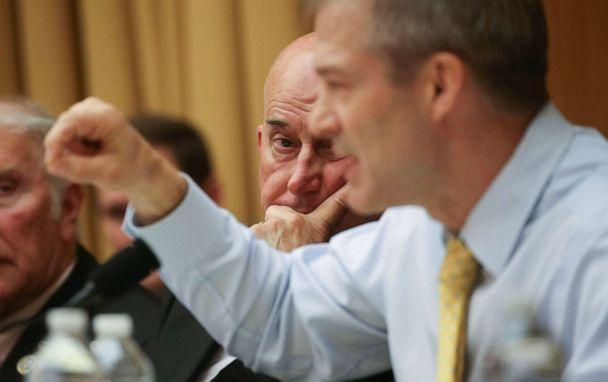 PHOTO: Rep. Louie Gohmert listens to Rep. Jim Jordan speak as the House Judiciary Committee debates whether Attorney General William Barr should be held in contempt on Capitol Hill in Washington, May 8, 2019. (Leah Millis/Reuters)