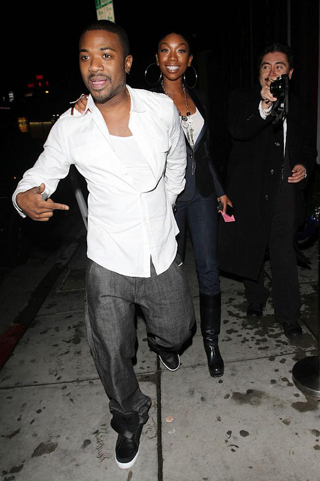 "Where's the jacket, Ray J? Perhaps the ""For the Love of Ray J"" romeo had to shed it after heating things up on the dance floor. Hellmuth Dominguez/<a href=""http://www.pacificcoastnews.com/"" target=""new"">PacificCoastNews.com</a> - January 20, 2010"