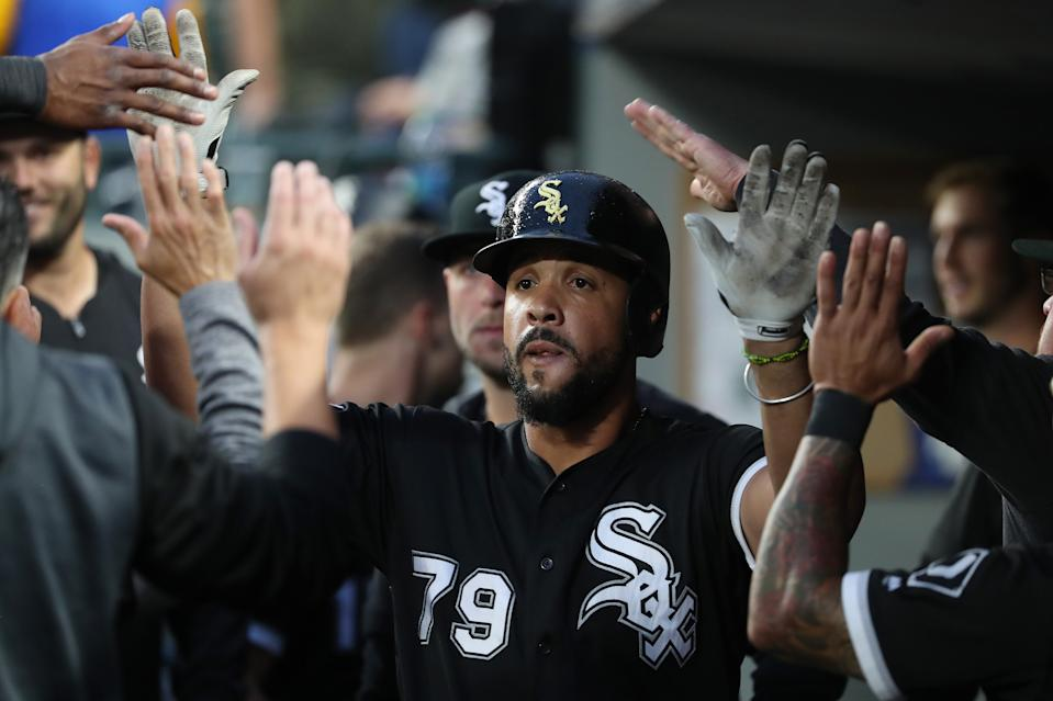 Chicago White Sox first baseman Jose Abreu wins the American League MVP award. (Photo by Abbie Parr/Getty Images)
