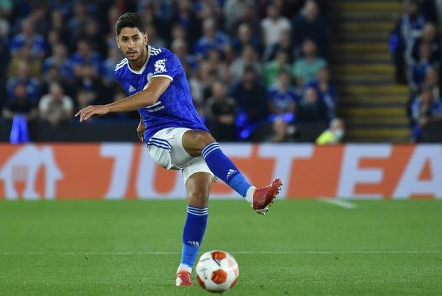 Ayoze Perez in action for Leicester