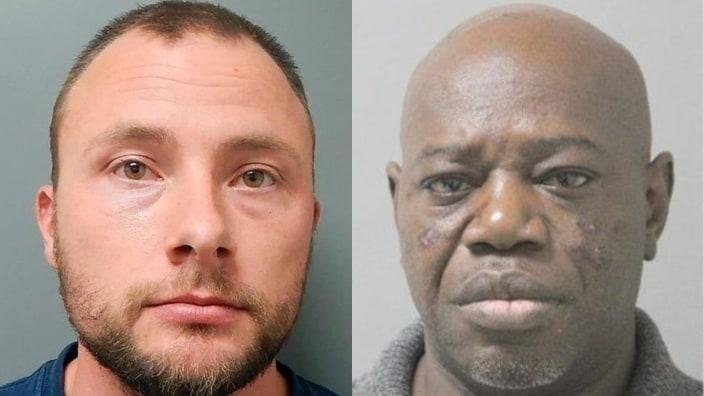 According to reports, Louisiana state trooper Jacob Brown (left), who was indicted for assaulting Aaron Larry Bowman (right), had amassed 23 use-of-force incidents dating to 2015 — 19 of them targeting Blacks — before he resigned in March. (Photos: Ouachita Correctional Center)