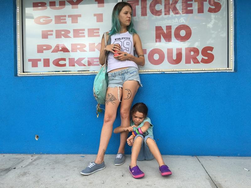 "Bria Vinaite and Brooklynn Prince star in ""The Florida Project."" (A24)"