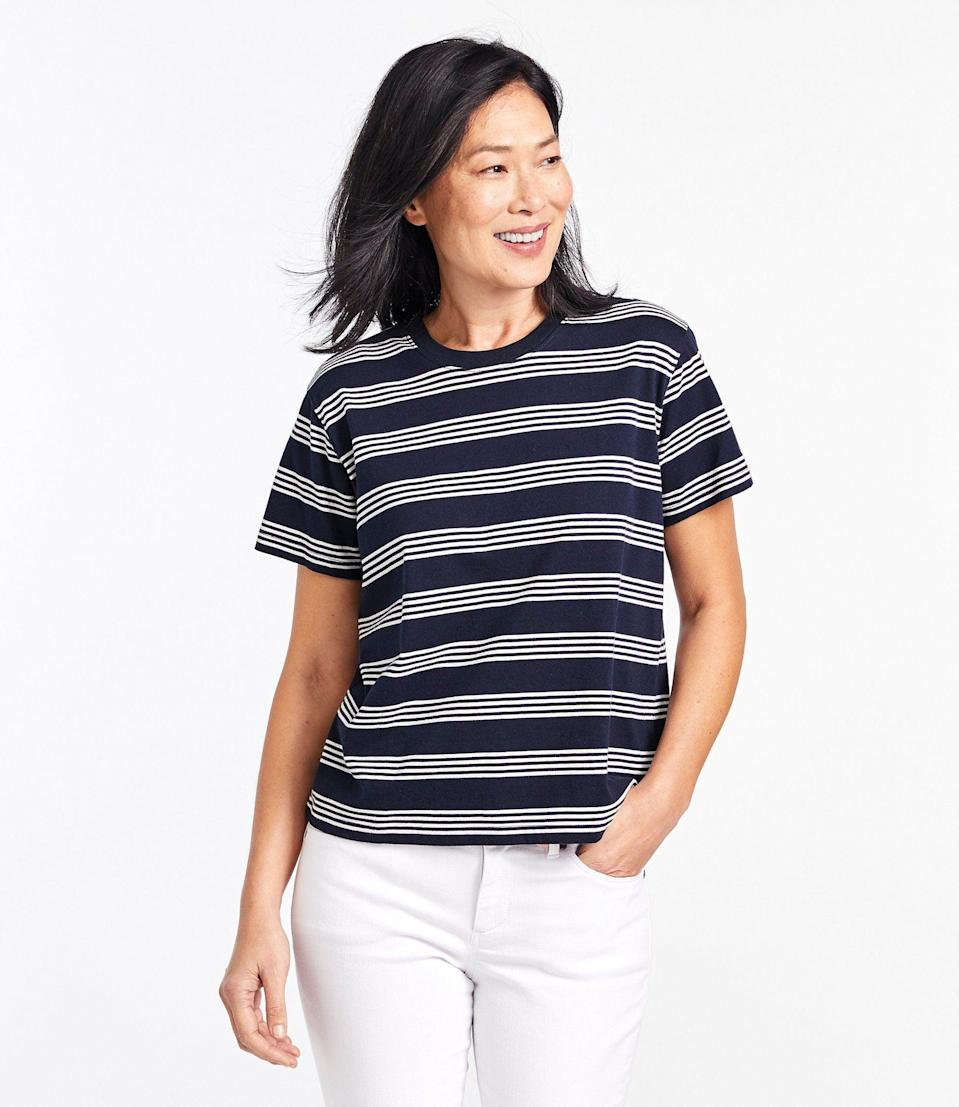 <p>You'll practically live in this comfy-looking <span>L.L.Bean Saturday T-Shirt</span> ($25).</p>