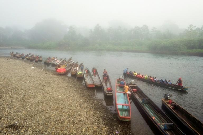 Once they cross the Darien Gap into Panama, migrants have a long way to go until they reach the United States -- here, some are transported along the route in Darien province, Panama in August 2021, near the time when Andre would have been traveling (AFP/Ivan PISARENKO)