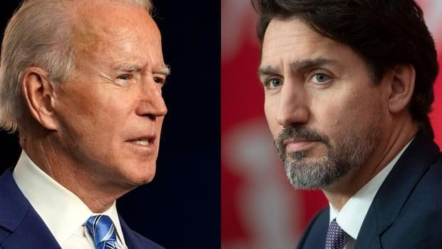 Asked about U.S. President Joe Biden, left, potentially meeting with Prime Minister Justin Trudeau, a White House spokesperson said any meetings with the president over the coming months would be virtual.