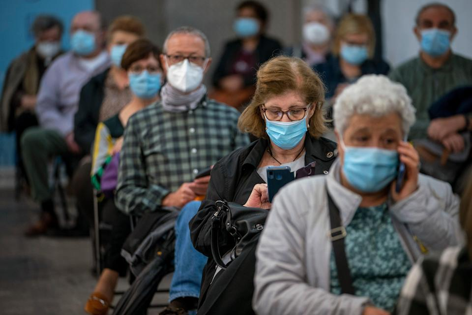 <p>The Covid-19 pandemic has created many challenges for journalists</p> (AP)
