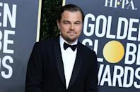 US actor Leonardo DiCaprio was one of the many stars in host Ricky Gervais' firing line