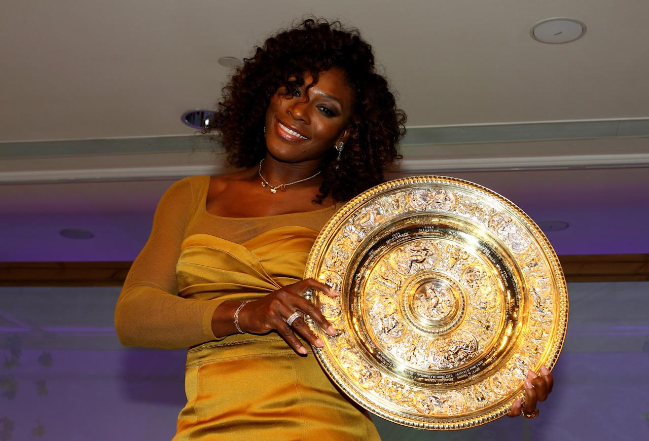 LONDON, ENGLAND - JULY 08:  Five times Wimbledon Ladies Champion Serena Williams attends the Wimbledon Championships 2012 Winners Ball at the InterContinental Park Lane Hotel on July 8, 2012 in London, England.  (Photo by Clive Brunskill/Getty Images)