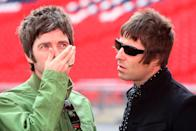 <p>Noel and Liam Gallagher attend a photocall in Wembley Stadium to promote their album Dig out Your Soul released on October 6, 2008k and their two sold out concerts at Wembley, on October 16, 2008 in London.</p>