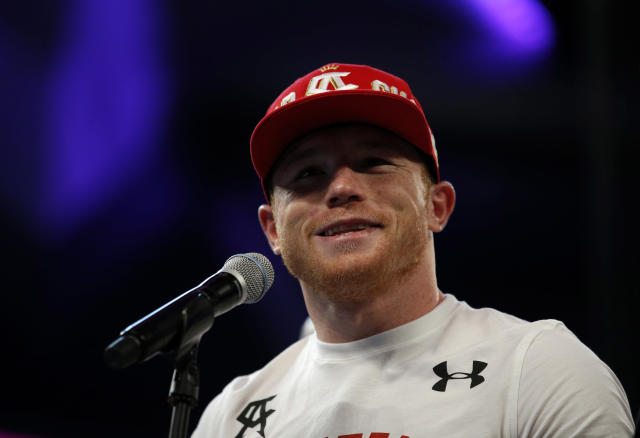 Boxing - Saul 'Canelo' Alvarez v Amir Khan WBC Middleweight Title - T-Mobile Arena, Las Vegas, United States of America - 7/5/16 Canelo Alvarez at the press conference after the fight Action Images via Reuters / Andrew Couldridge Livepic EDITORIAL USE ONLY.