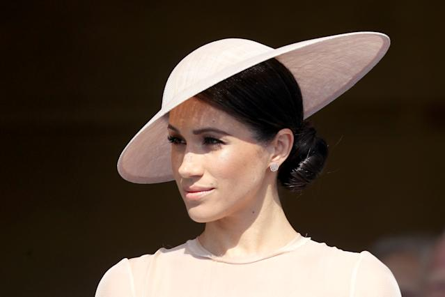 Meghan Markle during an appearance at Buckingham Palace days after her wedding. (Photo: Chris Jackson/Chris Jackson/Getty Images)