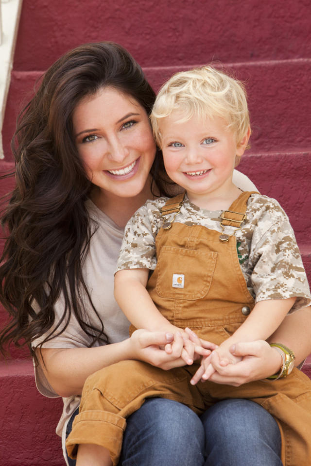 "Bristol Palin with her son Tripp in the new Lifetime docuseries, ""Bristol Palin: Life's a Tripp."""