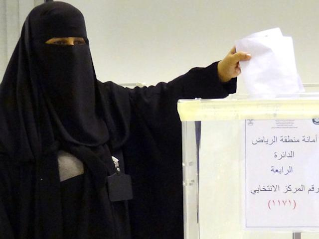 Photo of Saudi Women Voting in Elections