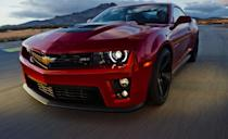"""<p>In 2012, Chevy went nuts and began offering the Camaro in <a href=""""http://www.caranddriver.com/chevrolet/camaro-zl1"""" rel=""""nofollow noopener"""" target=""""_blank"""" data-ylk=""""slk:a new ZL1 form"""" class=""""link rapid-noclick-resp"""">a new ZL1 form</a> powered by a supercharged 6.2-liter V-8 rated at 580 horsepower. How does zero to 60 in 4.1 seconds sound? Yup, it sounds like, looks like, and goes like it's the quickest and most capable Camaro yet conceived. It's a good way to celebrate the car's 45th anniversary. But that wasn't the end. First, in 2013, there was <a href=""""http://www.caranddriver.com/reviews/2013-chevrolet-camaro-ss-1le-first-drive-review"""" rel=""""nofollow noopener"""" target=""""_blank"""" data-ylk=""""slk:a new 1LE"""" class=""""link rapid-noclick-resp"""">a new 1LE</a>. And then in 2014 . . .</p>"""