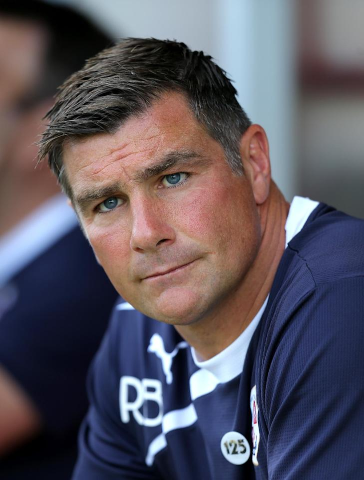 Crawley Town's manager Ritchie Barker before the start of the match during the Sky Bet League One match at Broadfield Stadium, Crawley.