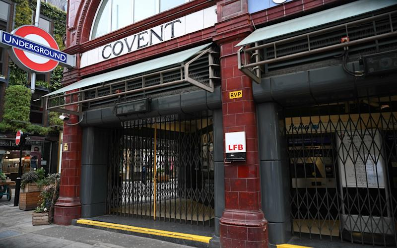 Covent Garden was one of 40 stations closed by TfL on Thursday morning - NEIL HALL/EPA-EFE/Shutterstock