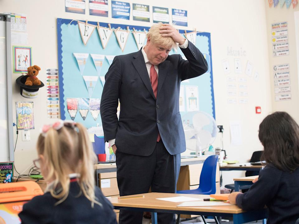 Boris Johnson on a visit to The Discovery School in West Malling, 20 July, 2020 (Getty Images)