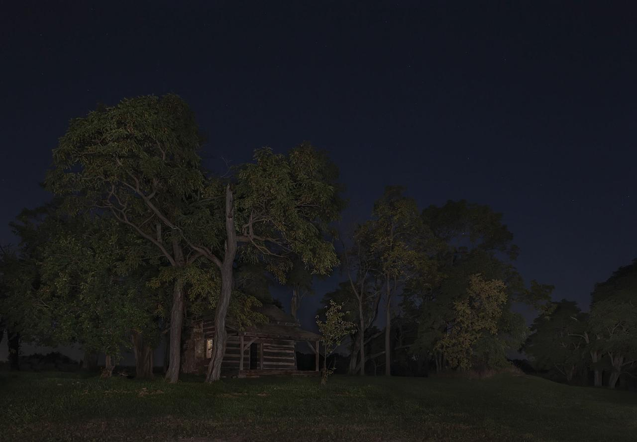 <p>James and Rachel Sillivan Cabin, Pennville [formerly Camden], Indiana. (Photograph by Jeanine Michna-Bales) </p>
