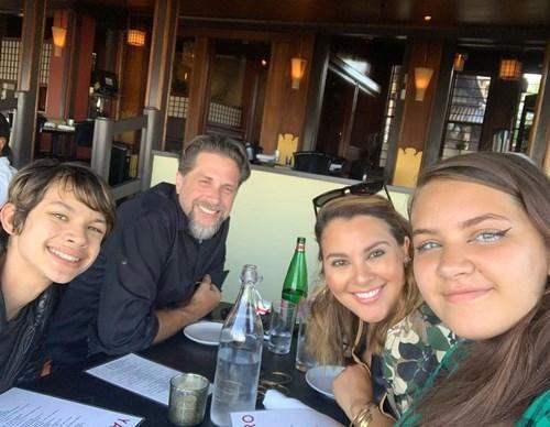 Tongi had a celebratory meal with husband Tim Walters and their children after her graduation