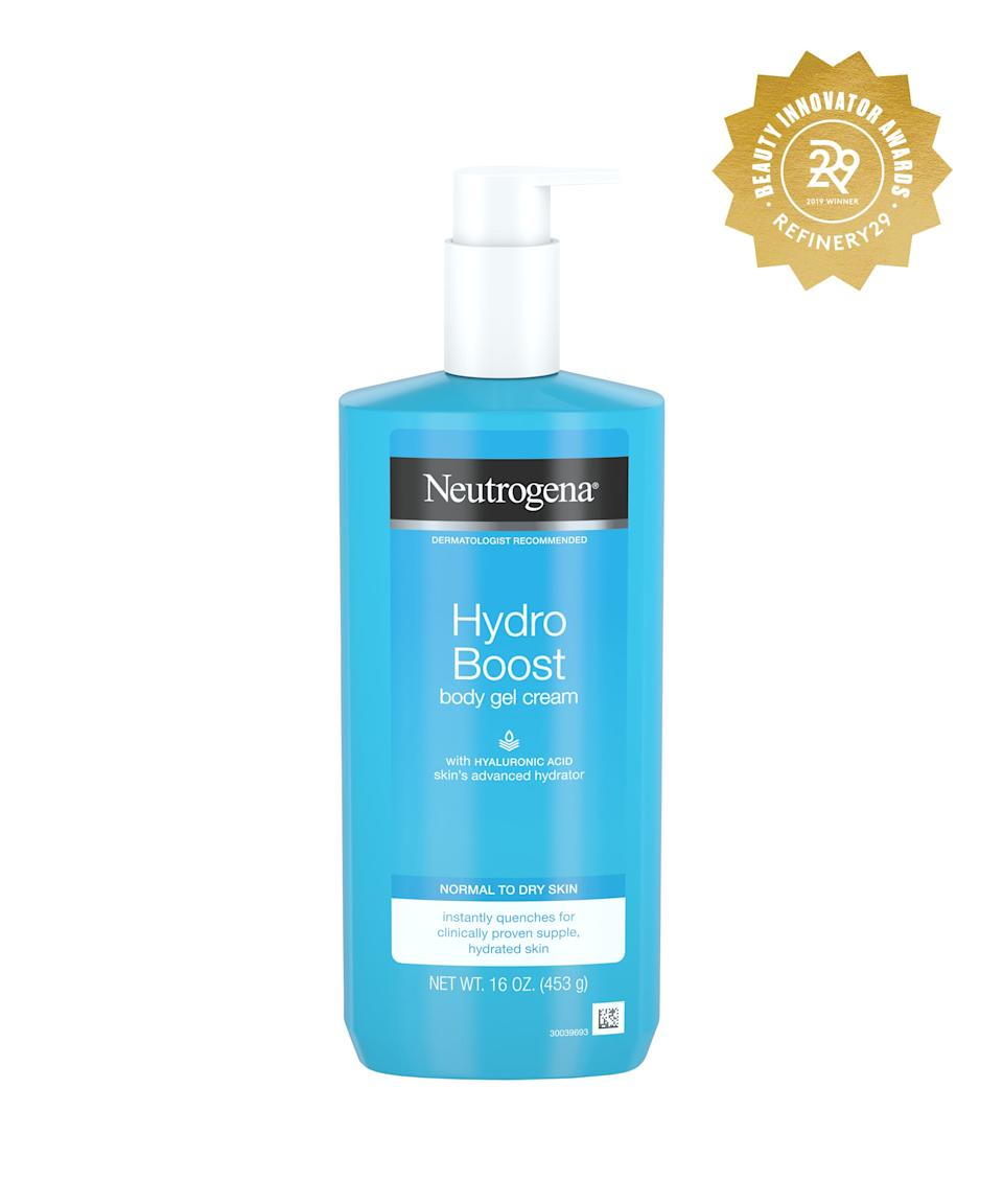 """<h2>Neutrogena Hydro Boost Gel Body Cream with Hyaluronic Acid<br></h2> <br>The benefits of hyaluronic acid aren't limited to the skin on your face: A few pumps of this body lotion containing the hydrating OG will also help your limbs level up to smooth dolphin status.<br><br><strong>Neutrogena</strong> Neutrogena Hydro Boost Hydrating Body Gel Cream with Hyaluronic Acid - 16oz, $, available at <a href=""""https://www.target.com/p/neutrogena-hydro-boost-hydrating-body-gel-cream-with-hyaluronic-acid-16oz/-/A-75558421#locklink"""" rel=""""nofollow noopener"""" target=""""_blank"""" data-ylk=""""slk:Target"""" class=""""link rapid-noclick-resp"""">Target</a><br>"""