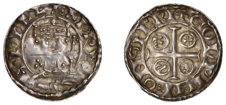 A penny from the reign of William I that was minted in Salisbury is among the lots in the auction (Dix Noonan Webb/PA) (PA Media)