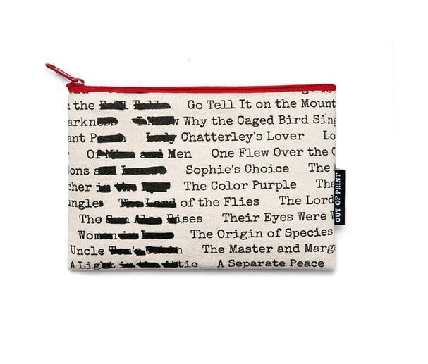<p>If anyone asks about this <span>Banned Books Pouch</span> ($12), it's a really fun story to tell and might even inspire you to read a few of the titles.</p>