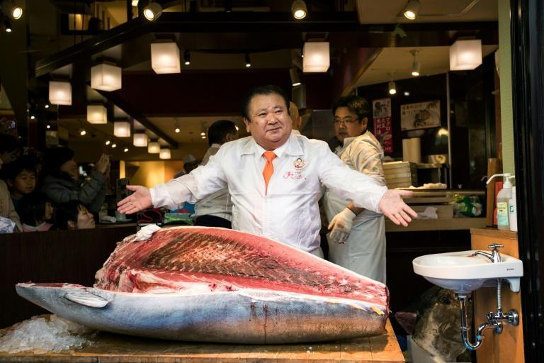 """Self-styled """"Tuna King"""" Kiyoshi Kimura has spent millions of dollars at the auction in the past, but said he wanted to show restraint because of the pandemic"""