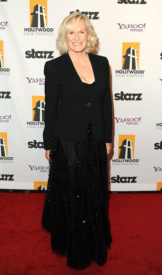 "<a href=""http://movies.yahoo.com/movie/contributor/1800019740"">Glenn Close</a> at the 15th Annual Hollywood Film Awards in Beverly Hills, California on October 24, 2011."