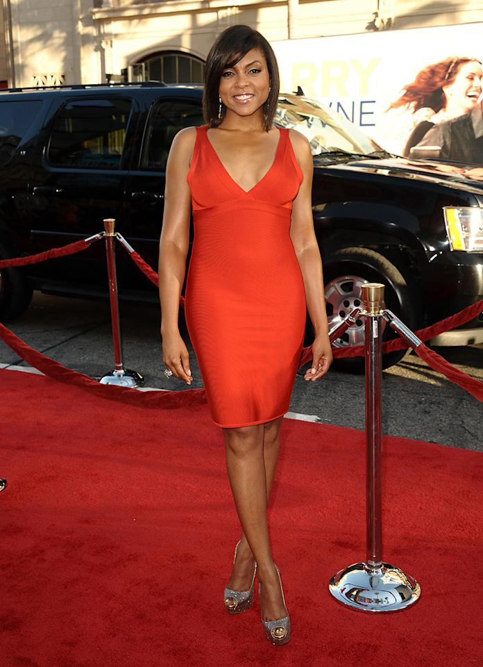 "<a href=""http://movies.yahoo.com/movie/contributor/1804514499"">Taraji P. Henson</a> at the Los Angeles premiere of <a href=""http://movies.yahoo.com/movie/1810196533/info"">Larry Crowne</a> on June 27, 2011."