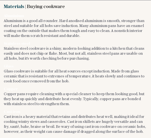 Materials | Buying cookware