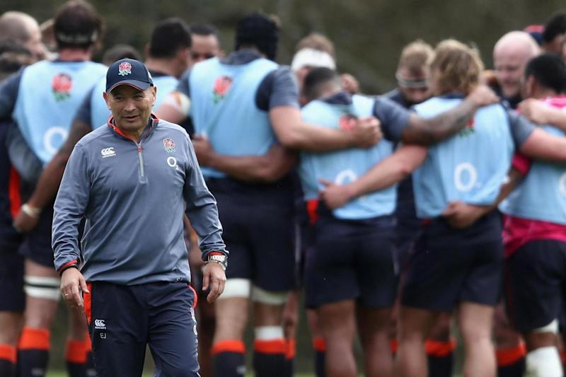 Visit | Eddie Jones spent Friday with the England football team (Getty Images)