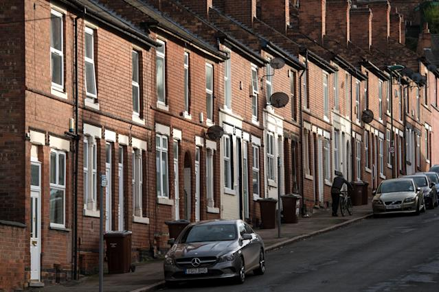 Homes in Nottingham as UK property price growth has slowed. Photo: OLI SCARFF/AFP via Getty Images