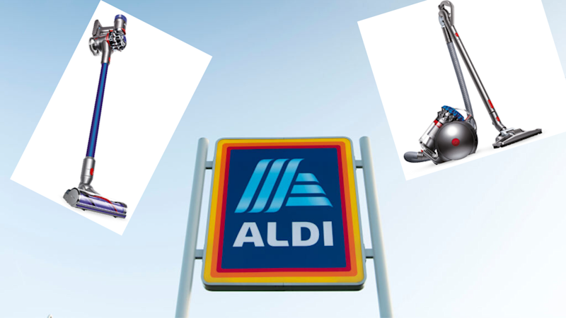 Aldi's flogging Dysons for cheap just for today only. (Source: Getty, Aldi)