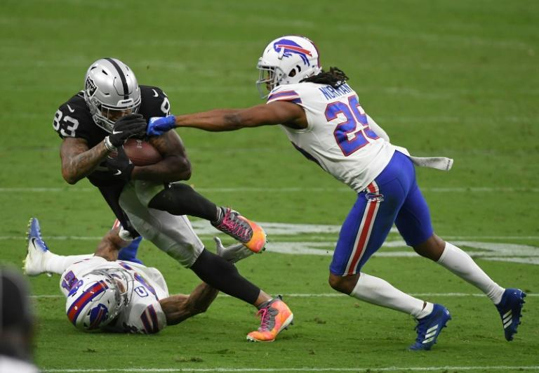 Buffalo Bills cornerback Josh Norman (right) has been ruled out of Sunday's clash with the Arizona Cardinals after testing positive for Covid-19