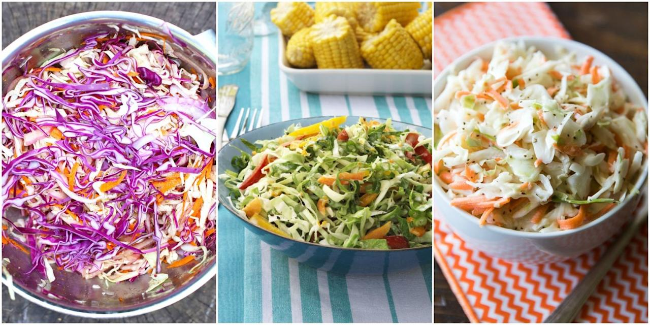 "<p>Get your fill of fresh, crunchy veggies with these delicious twists on classic coleslaw, plus get more of our <a rel=""nofollow"" href=""http://www.womansday.com/food-recipes/food-drinks/g3008/4th-of-july-menu/"">favorite barbecue recipes.</a></p>"