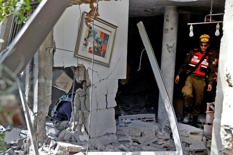 Rocket fire from Gaza has damaged buildings in the nearby Israeli city of Ashkelon
