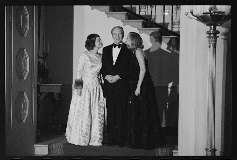 President Gerald Ford, with wife Betty and daughter Susan, 1975