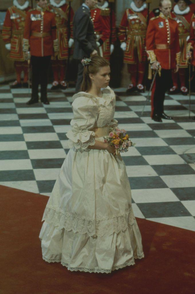 <p>Sarah Armstrong-Jones, a.k.a. Princess Margaret and the Earl of Snowdon's daughter, was the chief bridesmaid. </p>