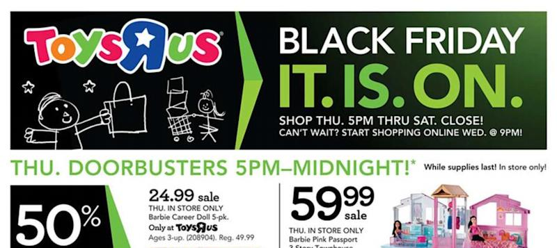 3bc59264 The Toys R Us Black Friday 2017 ad flyer just leaked, with some huge deals