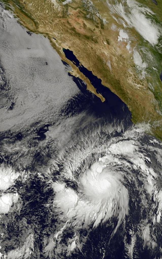 This image obtained from the NOAA-NASA GOES Project shows Tropical Storm Andres on May 28, 2015