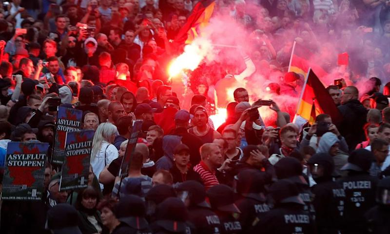 Users looking for video information on the Chemnitz riots were led to extremist content.