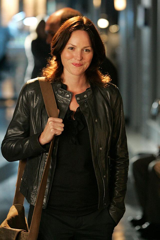 "Jorja Fox stars as Sara Sidle in ""CSI: Crime Scene Investigation."""
