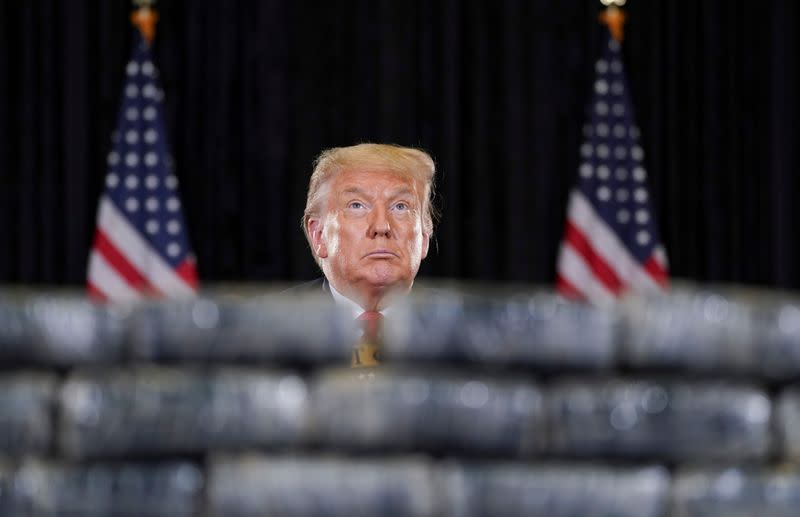 Despite 2020 crises and falling polls, Trump campaigns like it is 2016