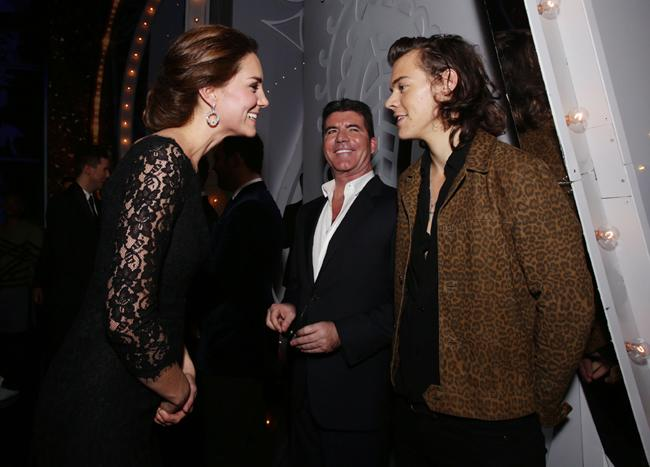 Duchess Kate meets Harry Styles