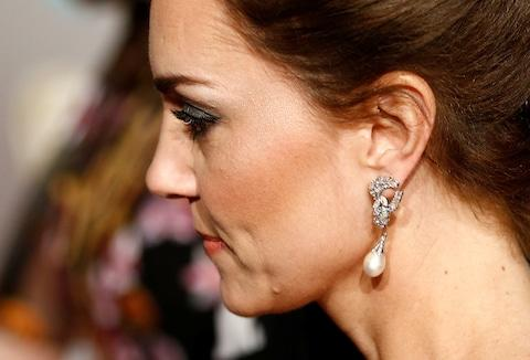 Duchess of Cambridge BAFTAs 2019 earrings - Credit: REUTERS/Henry Nicholls