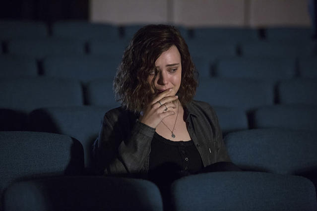 <p>Netflix caused controversy with this 13-part series narrated by Hannah Baker (Katherine Langford), a bullied teen who ended her life by slitting her wrists in a bathtub. This dead girl left a parting gift for her tormentors by making a series of audiotaped recordings explaining why it was their fault that she killed herself, but some parents thought the series glamorized teen suicide. (Photo: Beth Dubber/Netflix) </p>