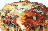 """<p>This pumpkin kale lasagna is the perfect opportunity to <a href=""""https://www.thedailymeal.com/how-to-use-up-leftovers?referrer=yahoo&category=beauty_food&include_utm=1&utm_medium=referral&utm_source=yahoo&utm_campaign=feed"""" rel=""""nofollow noopener"""" target=""""_blank"""" data-ylk=""""slk:incorporate some leftovers into your meal"""" class=""""link rapid-noclick-resp"""">incorporate some leftovers into your meal</a>. The dish can be made using leftover kale, but the real star is the pumpkin.</p> <p><a href=""""https://www.thedailymeal.com/recipes/pumpkin-kale-lasagna-recipe?referrer=yahoo&category=beauty_food&include_utm=1&utm_medium=referral&utm_source=yahoo&utm_campaign=feed"""" rel=""""nofollow noopener"""" target=""""_blank"""" data-ylk=""""slk:For the Pumpkin Kale Lasagna recipe, click here"""" class=""""link rapid-noclick-resp"""">For the Pumpkin Kale Lasagna recipe, click here</a></p>"""